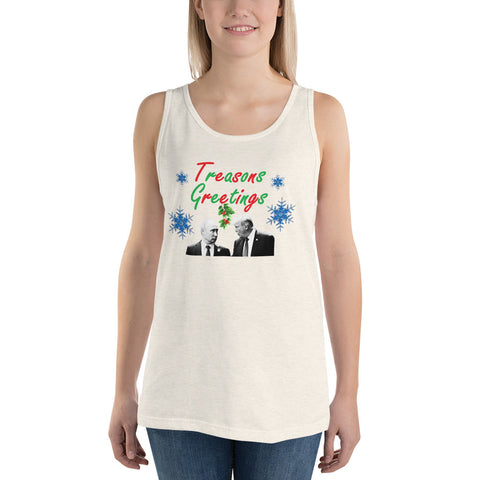 Treasons Greetings Unisex Tank Top - PoliticHell