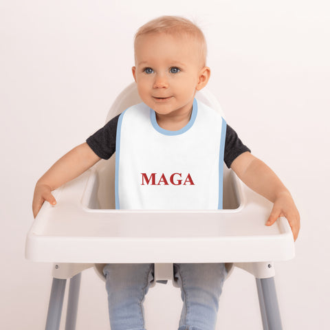 MAGA Embroidered Baby Bib - PoliticHell