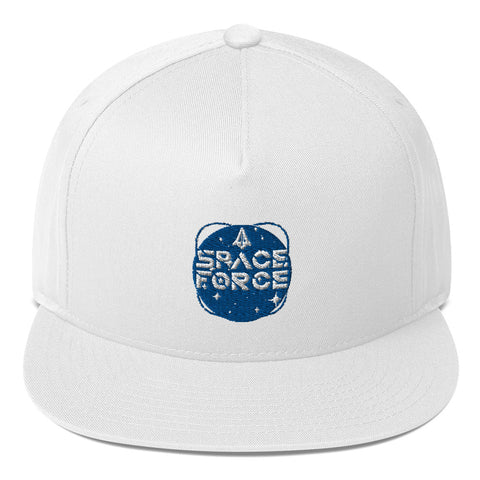 Space Force Flat Bill Cap - PoliticHell