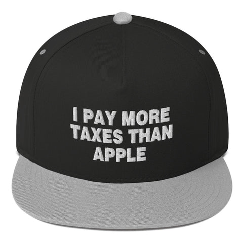 I Pay More Taxes Than Apple Flat Bill Cap - PoliticHell