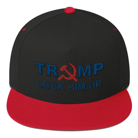 Lock Him Up Sickle Flat Bill Cap - PoliticHell