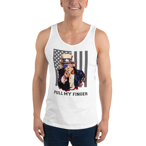 Uncle Sam Pull My Finger Unisex Tank Top - PoliticHell