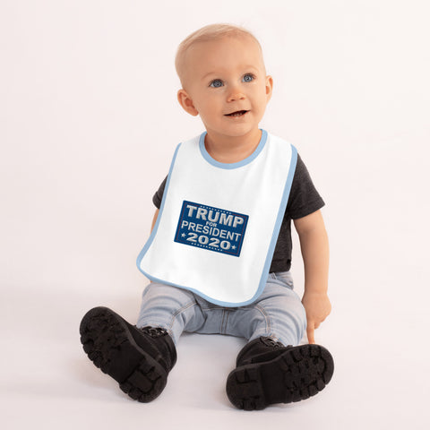 Trump For President 2020 Embroidered Baby Bib - PoliticHell