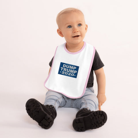 Dump Trump 2020 Embroidered Baby Bib - PoliticHell