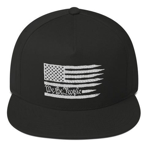 American Flag We The People Flat Bill Cap - PoliticHell