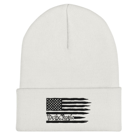 American Flag We The People Cuffed Beanie - PoliticHell