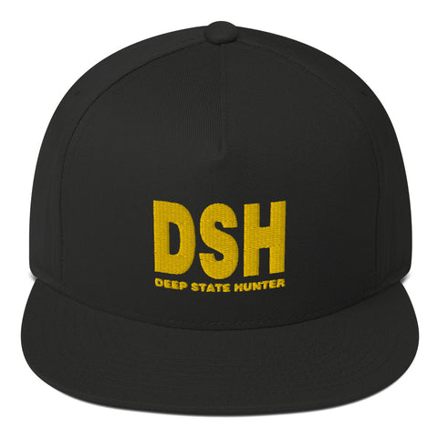 Deep State Hunter Flat Bill Cap - PoliticHell