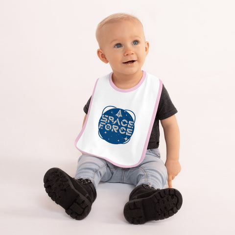 Space Force Embroidered Baby Bib - PoliticHell