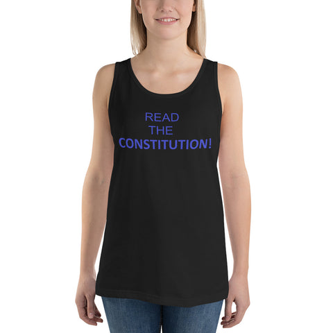 Read The Constitution Unisex Tank Top - PoliticHell