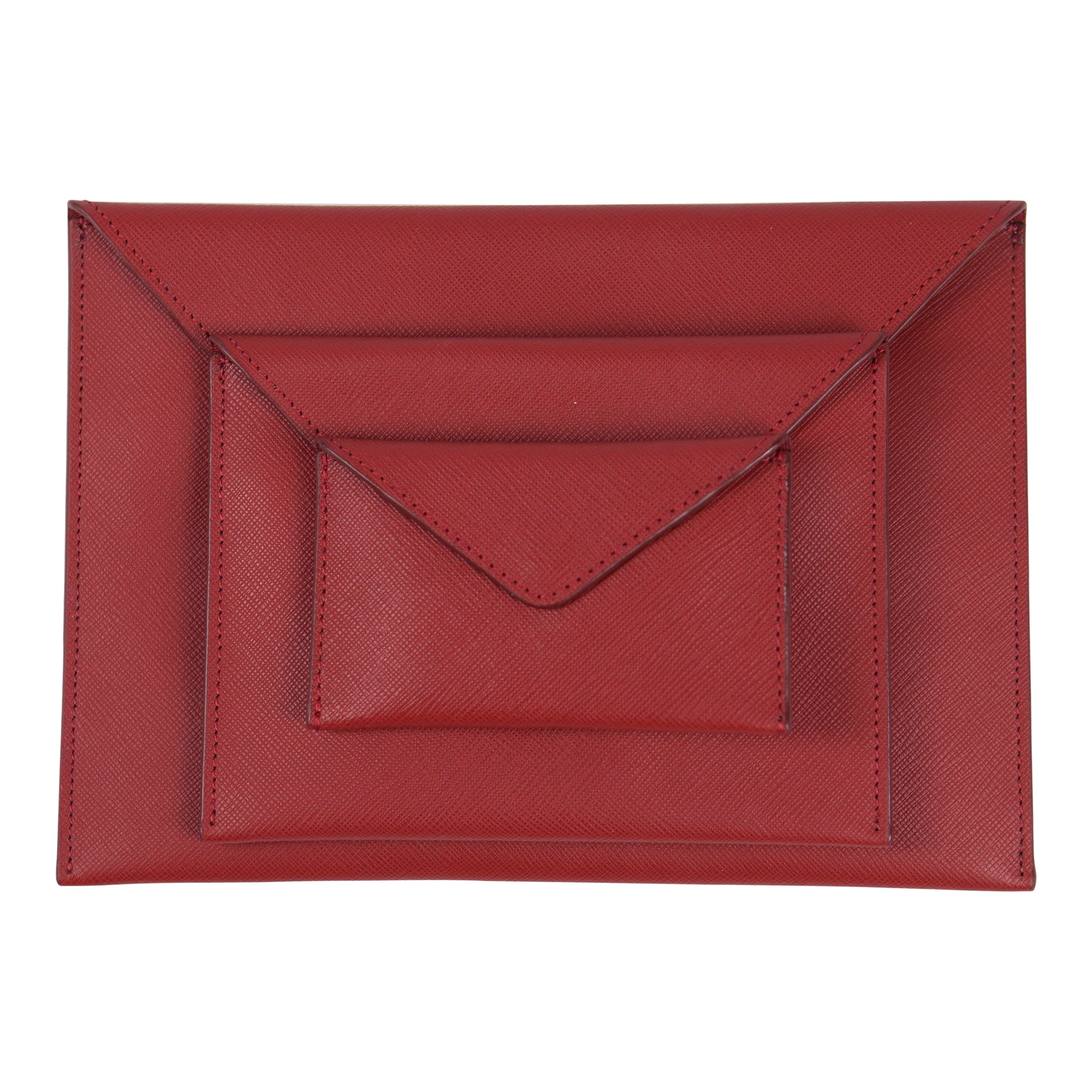 Canyon Ranch Red Leather Envelope Set