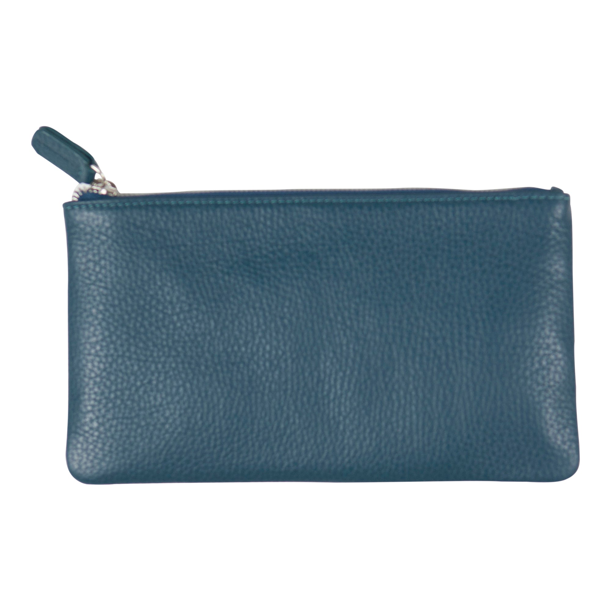 Canyon Ranch Leather Flat Pocket Pouch - Jeans