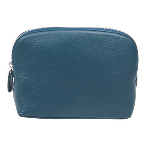 Canyon Ranch Leather Cosmetic Pouch - Jeans