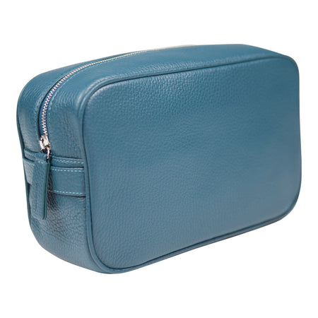Canyon Ranch Leather Toiletry Bag - Jeans