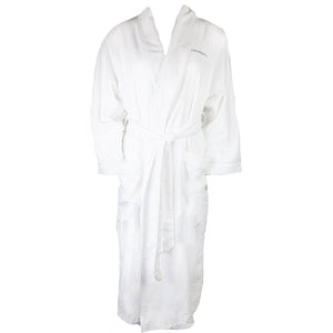 Canyon Ranch Microfiber Plush Bath Robe - White