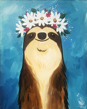 Load image into Gallery viewer, Flower Crown Sloth