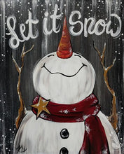 Load image into Gallery viewer, Let It Snow Rustic Snowman