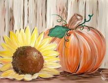Load image into Gallery viewer, Rustic Sunflower Pumpkin