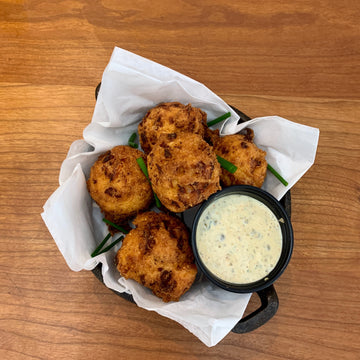 SHRIMP & COUNTRY HAM HUSHPUPPIES