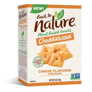 Back to Nature Cheddar Crackers (Vegan)