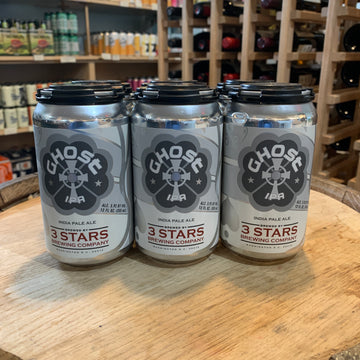 3 Stars Ghost White IPA, 6pk 12oz