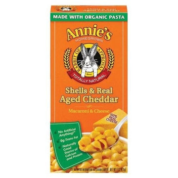 Annies Homegrown Shells & Real-Aged Wisconsin Cheddar Macaroni & Cheese , 6 oz