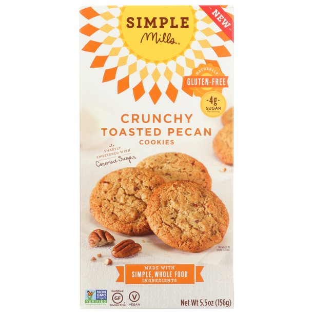 Simple Mills gluten free pecan cookies (vegan & Delicious!)