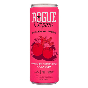 Rogue Cranberry Elderflower Vodka Soda, Single 12oz Can