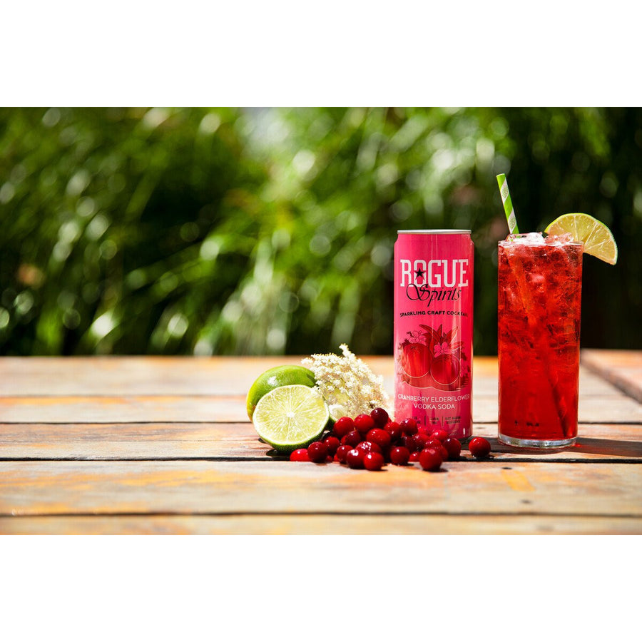 Rogue Cranberry Elderflower Vodka Soda (4 pack, 12oz cans)