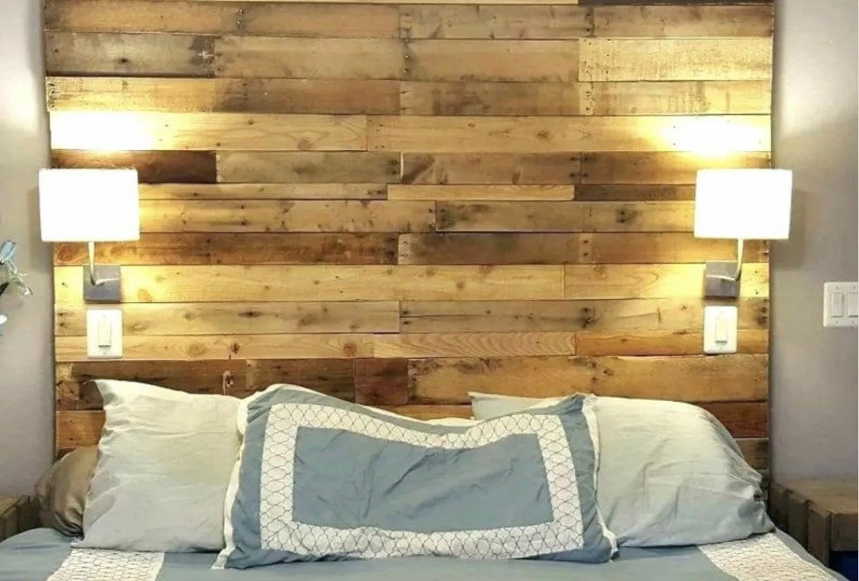Full Size Bed Reclaimed Pallet Headboard Diy Rustic Pallet Products