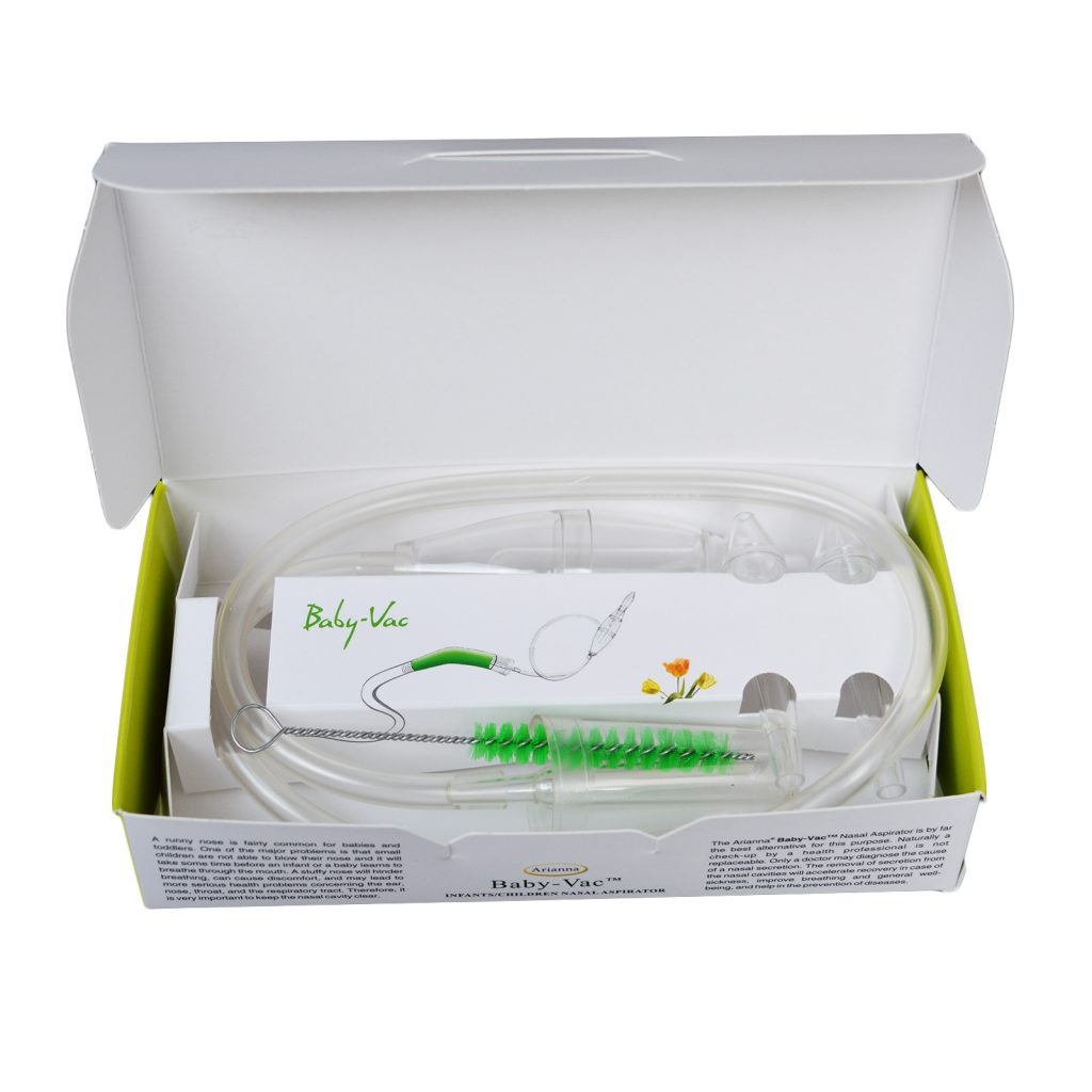 Baby-Vac Arianna Nasal Vacuum Aspirator Nose Cleaner + Special Cleaning Brush.