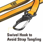 2 Pc. 8 Ft. 500 lb Cambuckle Tie-Down Straps w/ 2 Pc. Soft Loops