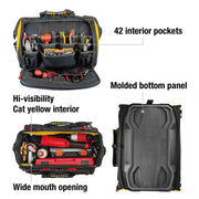 18 inch Pro Toolbag 56 Pockets Heavy Duty 1680D Polyester
