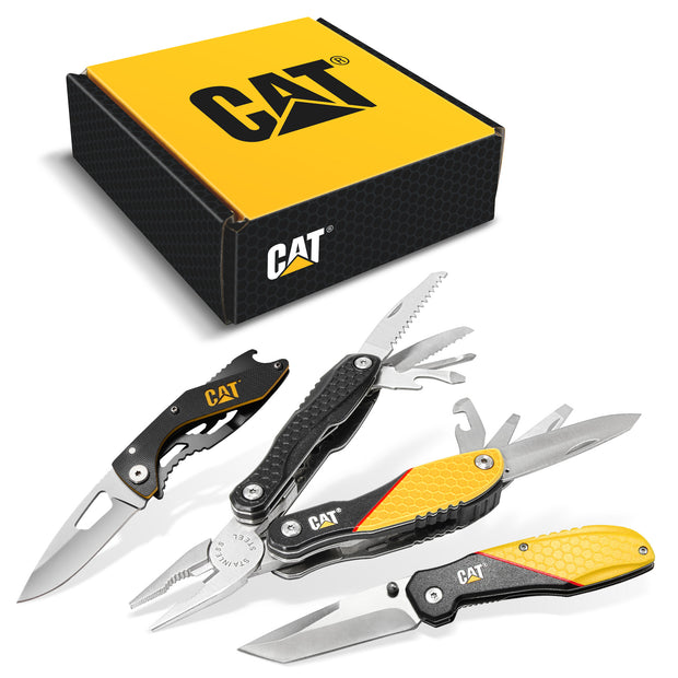 3 Piece Multi-Tool and Pocket Knife Gift Set Box