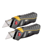2 Pack - Safety Utility Knife Box Cutter Self-Retracting Blade with 3 Blades
