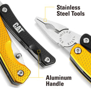 8-in-1 Multi-Pliers, Black and Yellow Handle, Multi-Function Tool