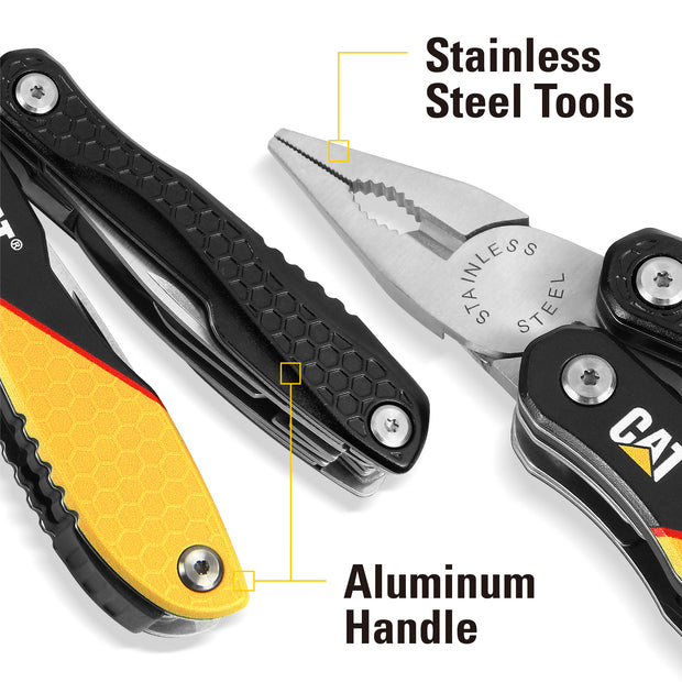 Cat 13-in-1 Multi-Tool w/ Black and Yellow Aluminum Handles - 980048