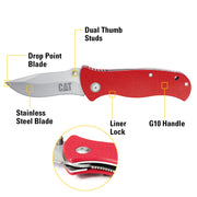 7-1/2 in. Drop-Point Folding Knife