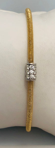 14Kt. Yellow Gold Diamond Spring Bracelet