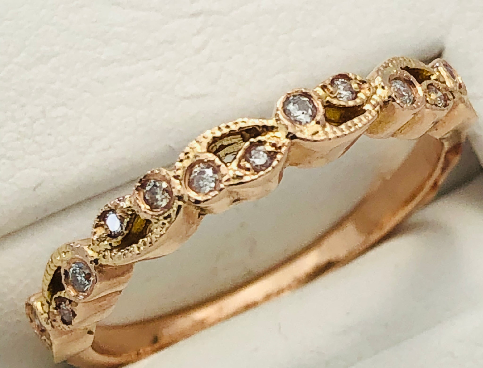 14Kt. Rose Gold Diamond Band