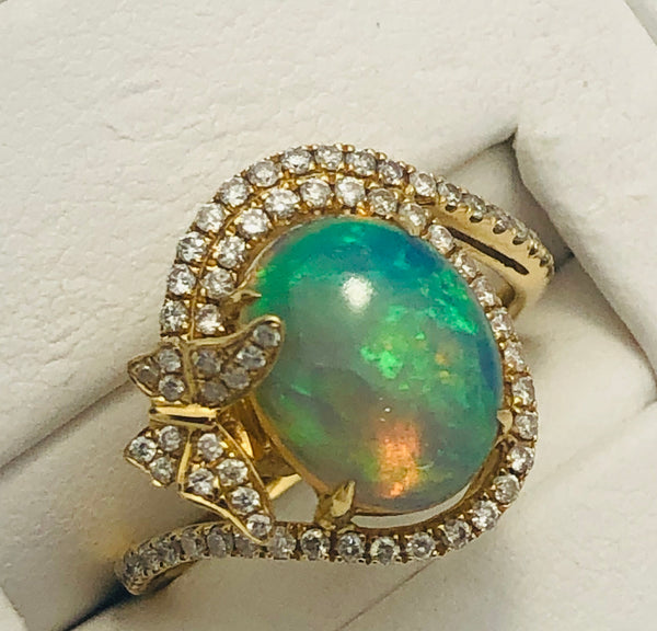 14Kt. Yellow Gold Ethiopian Opal