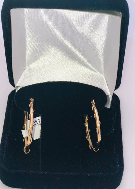 14Kt. Yellow Gold Wire Hoop Earrings