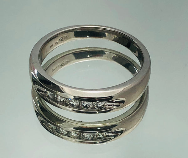 Platinum Mens Wedding Band