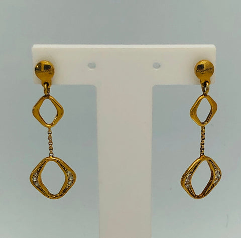 Nomination Sterling Silver Yellow Gold plated  Italian Earrings