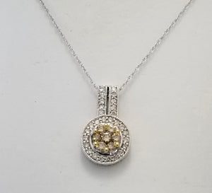 14Kt. White Gold Diamond Pendant