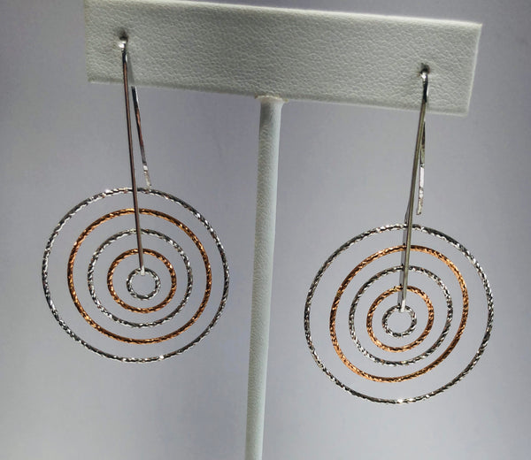 Sterling Silver Circle Earrings