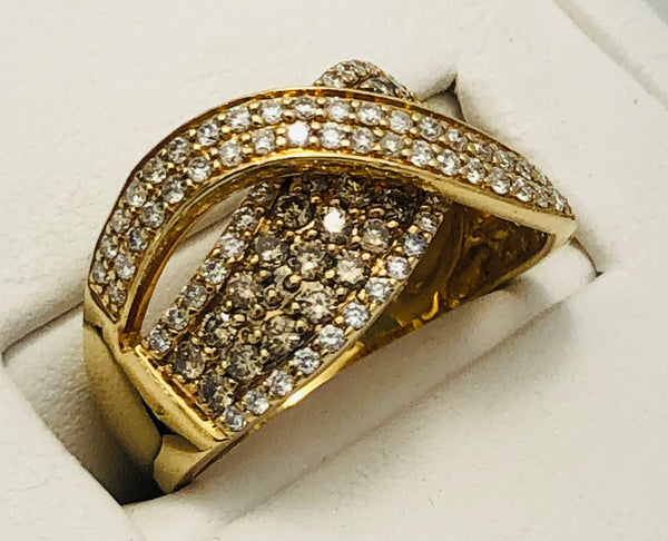 14Kt. Yellow Gold Diamond Fashion Ring