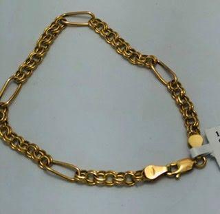 14Kt. Yellow Gold open link bracelet