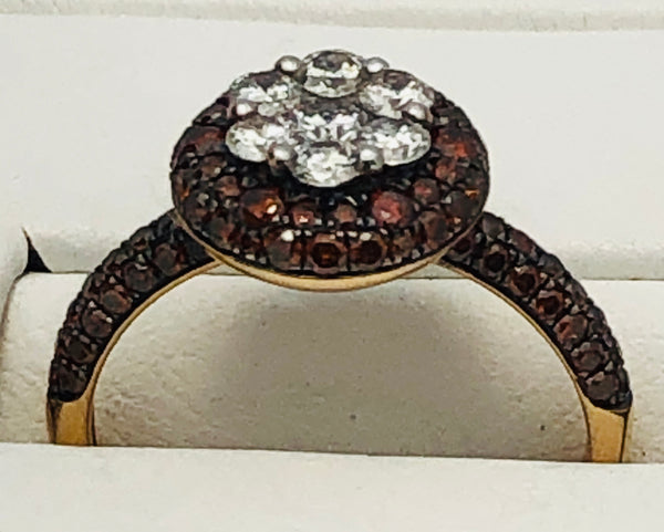 14Kt. Fancy Cluster Diamond Fashion Ring
