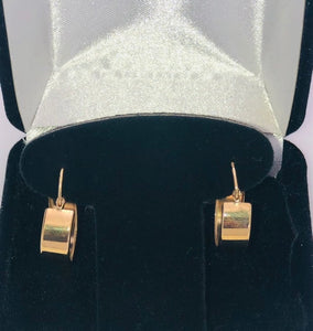 14Kt. Yellow Gold Fashion Hoop Earrings