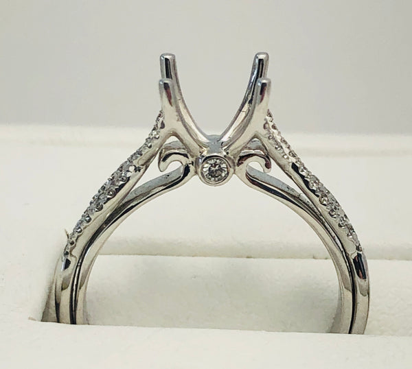 14Kt. White Gold Diamond Semi Mounting